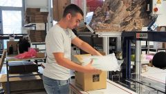 This image shows our apprentice Marco Savic at work in the warehouse.
