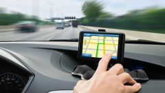 A navigation system in the car.