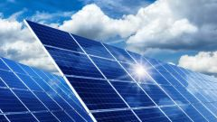 This image shows solar panels for the production of solar energy.