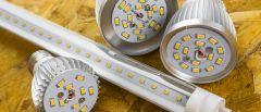 Different Light Emitting Diodes (LEDs).