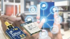 ZigBee modules and in the background smart home control via a smartphone.