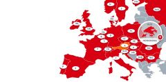 Country map where CODICO's professional sales and technical support are available.