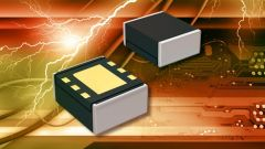 Two DC/DC IC modules on an orange background.