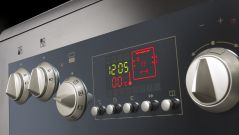 Tact switches on an oven.