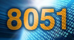 The digits 8051 in orange on a blue background.